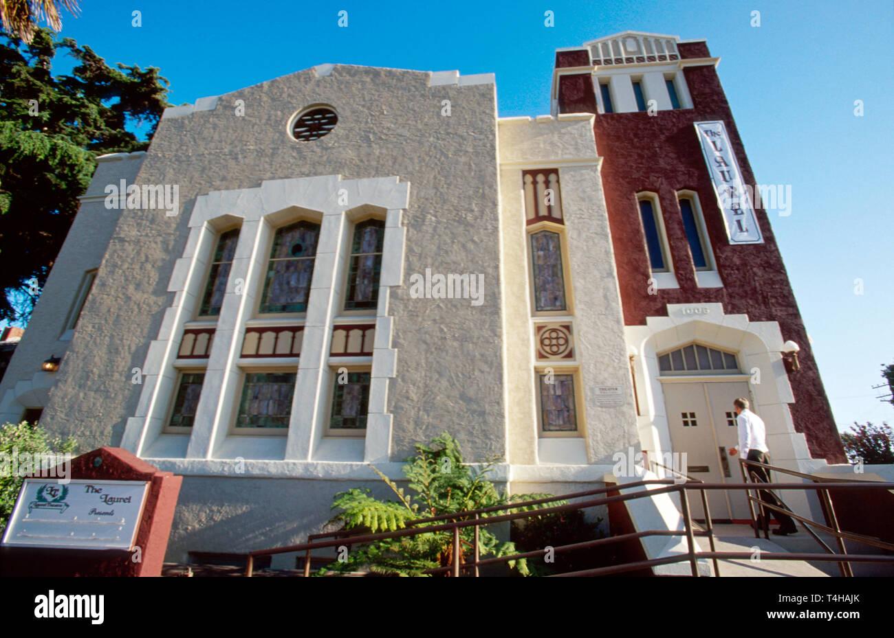 California Ventura Main Street church converted to Laurel Theatre - Stock Image