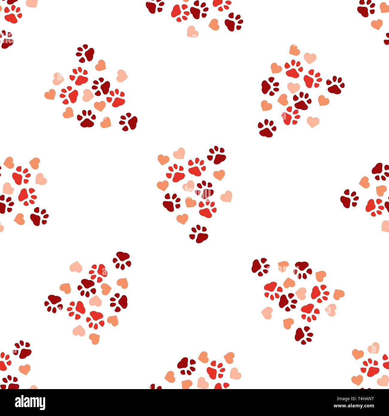 77bd1460ce2a Animal paw print seamless pattern background. Business flat vector  illustration. Dog or cat pawprint sign symbol pattern.