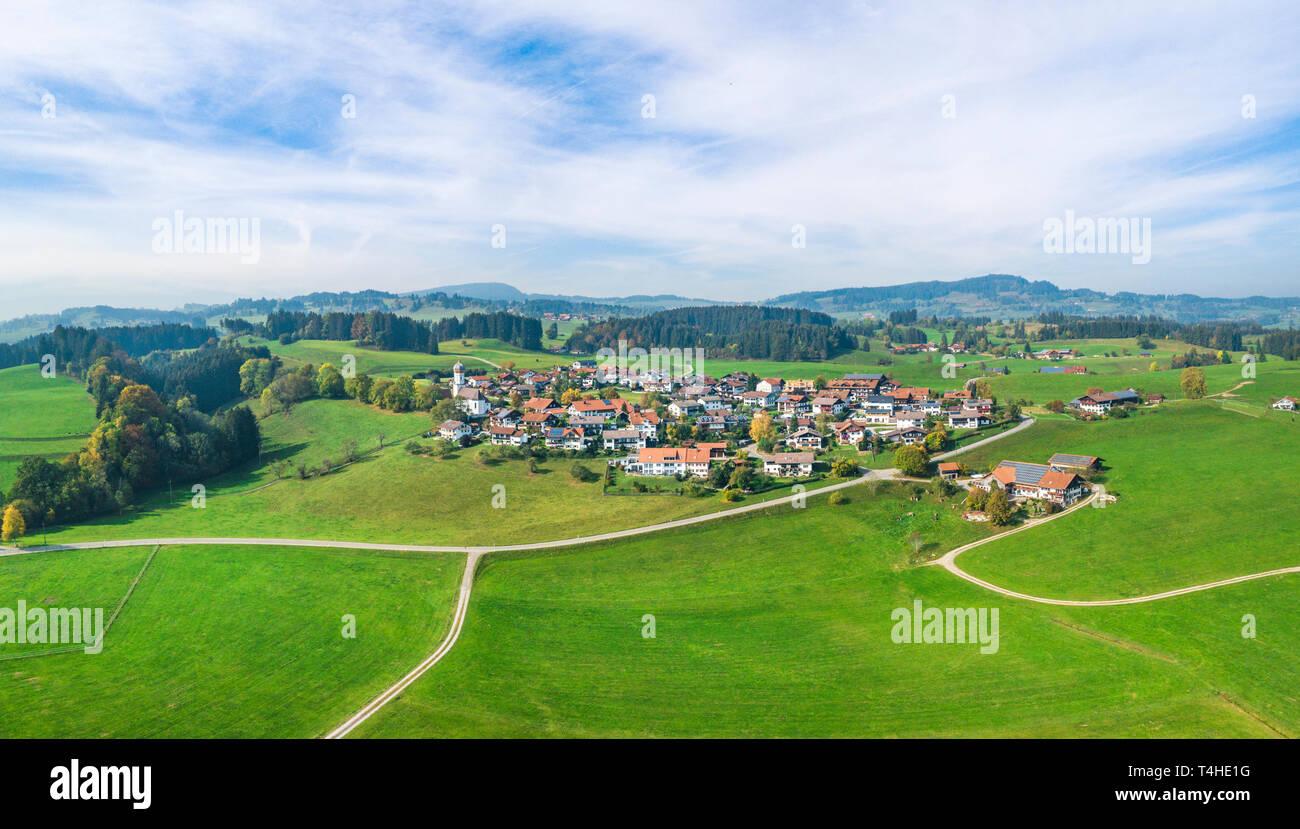 Eckarts near Immenstadt in Iller valley - Stock Image