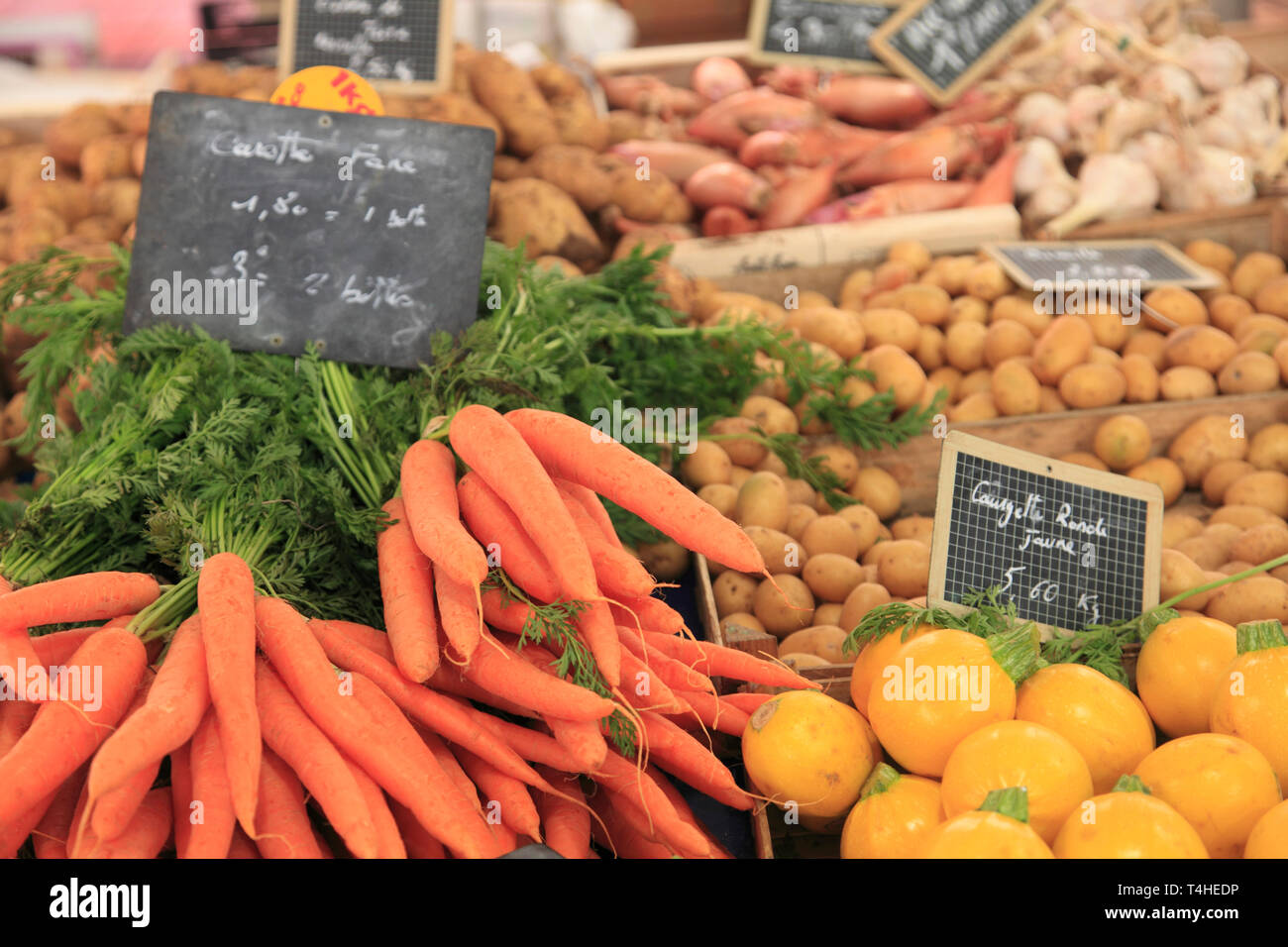 Marche Forville, Forville Market, Cannes, Alpes Maritimes, Cote d'Azur, French Riviera, Provence, France, Europe - Stock Image