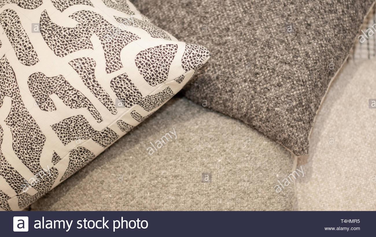 throw pillows overlap - Stock Image