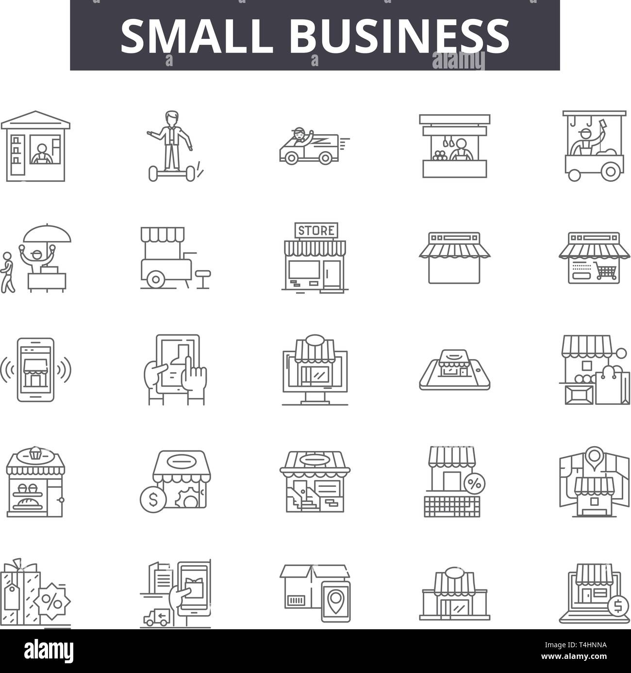 fd27192c23d Small business line icons