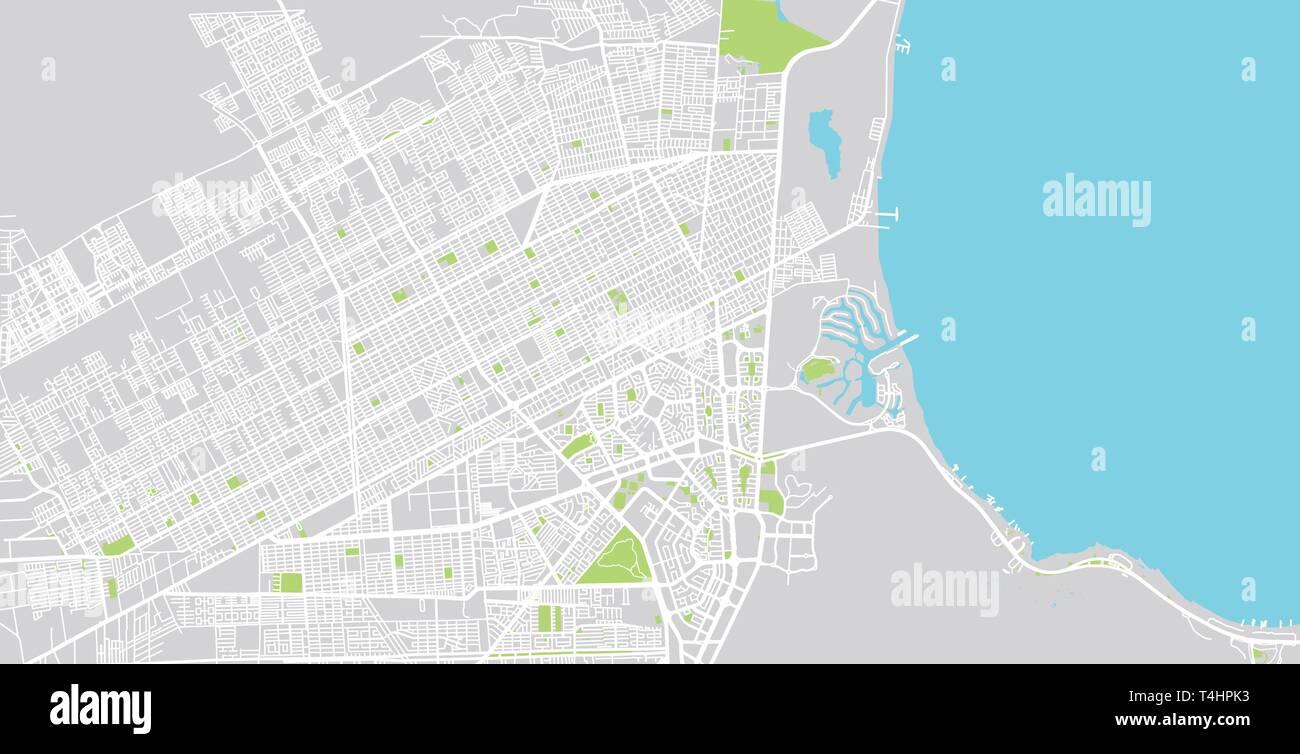 Urban vector city map of Cancun, Mexico Stock Vector Art ... on