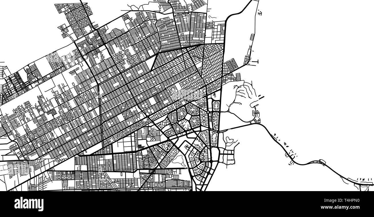 Urban Vector City Map Of Cancun Mexico Stock Vector Image Art Alamy