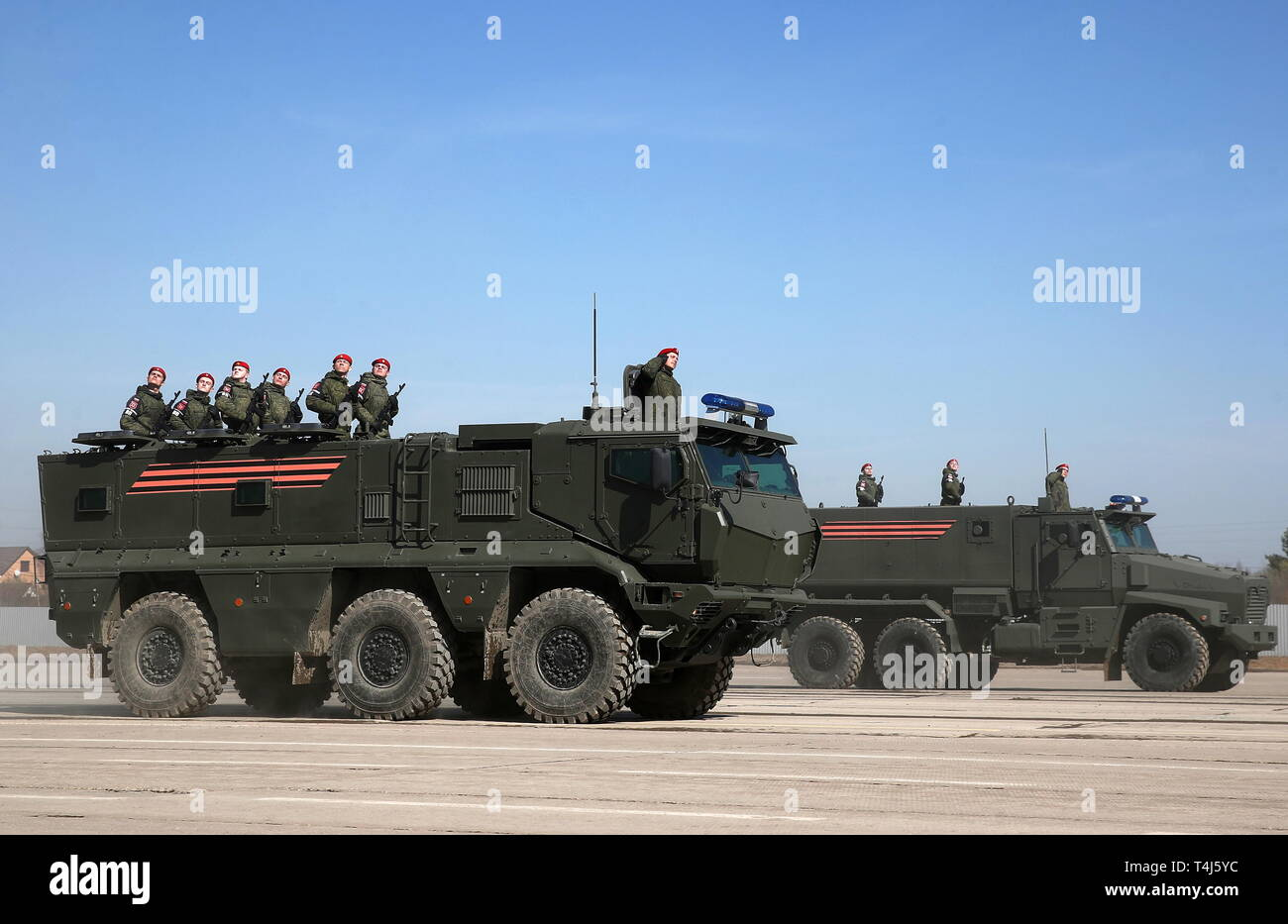 Russia 17th Apr 2019 Moscow Region Russia April 17 2019 Taifun K Armoured Vehicle Front During