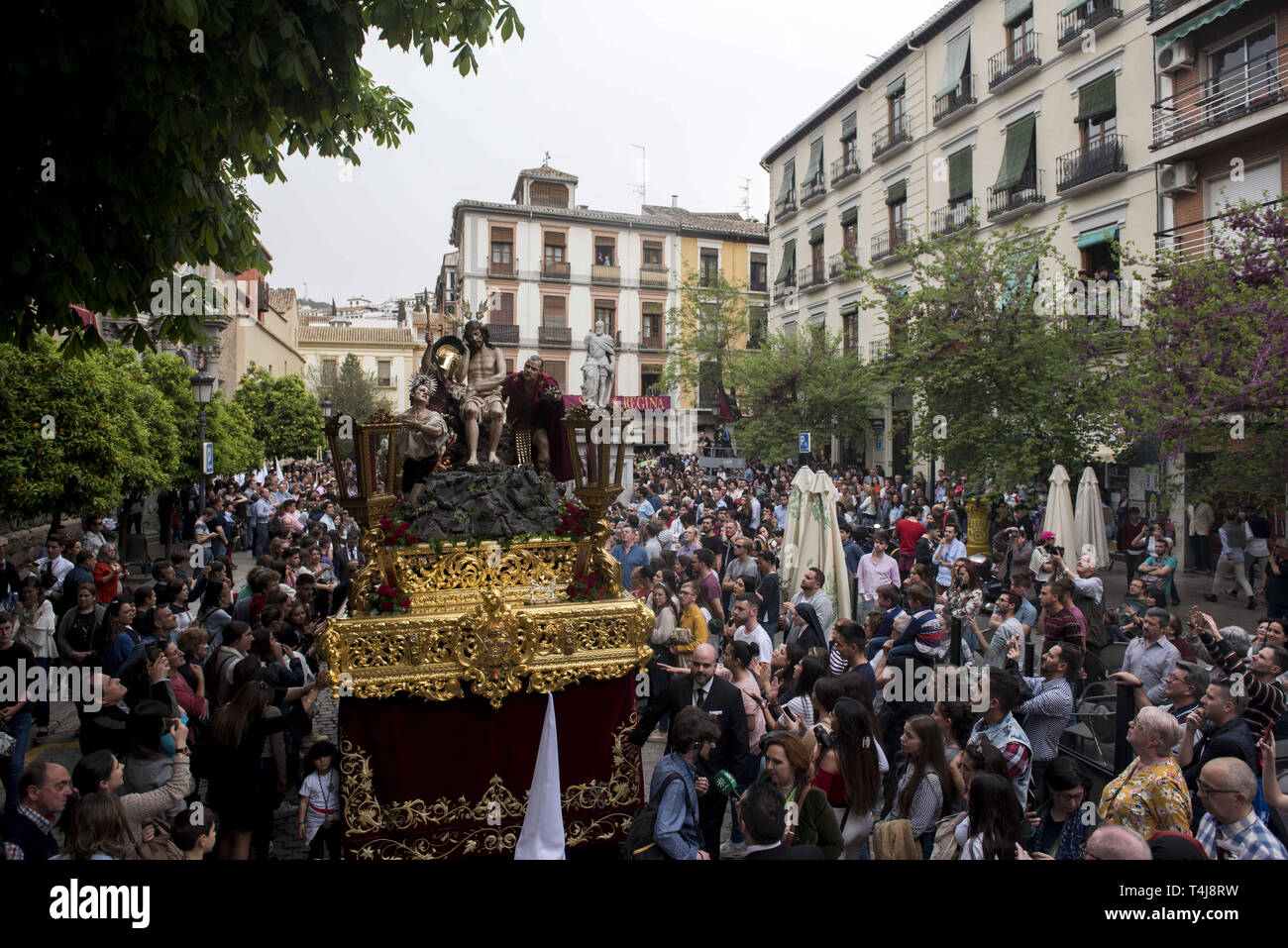Granada, Spain  17th Apr, 2019  Statue of Jesus Christ from