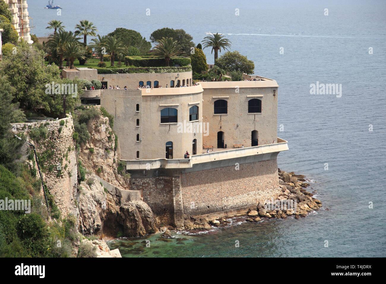 Oceanography Museum, Monaco-Ville, Monaco, Cote d Azur, Mediterranean, Europe - Stock Image