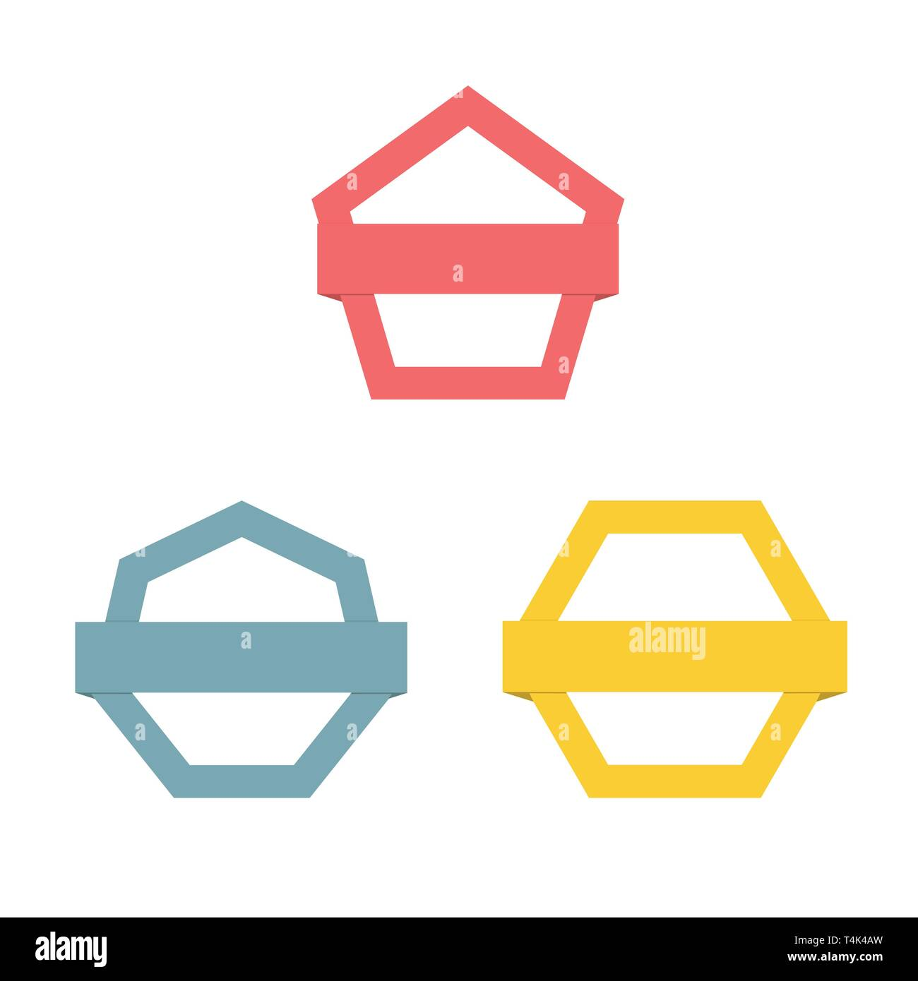Modern abstract vector logo or element design. Best for identity and logotypes. Simple shape. - Stock Image