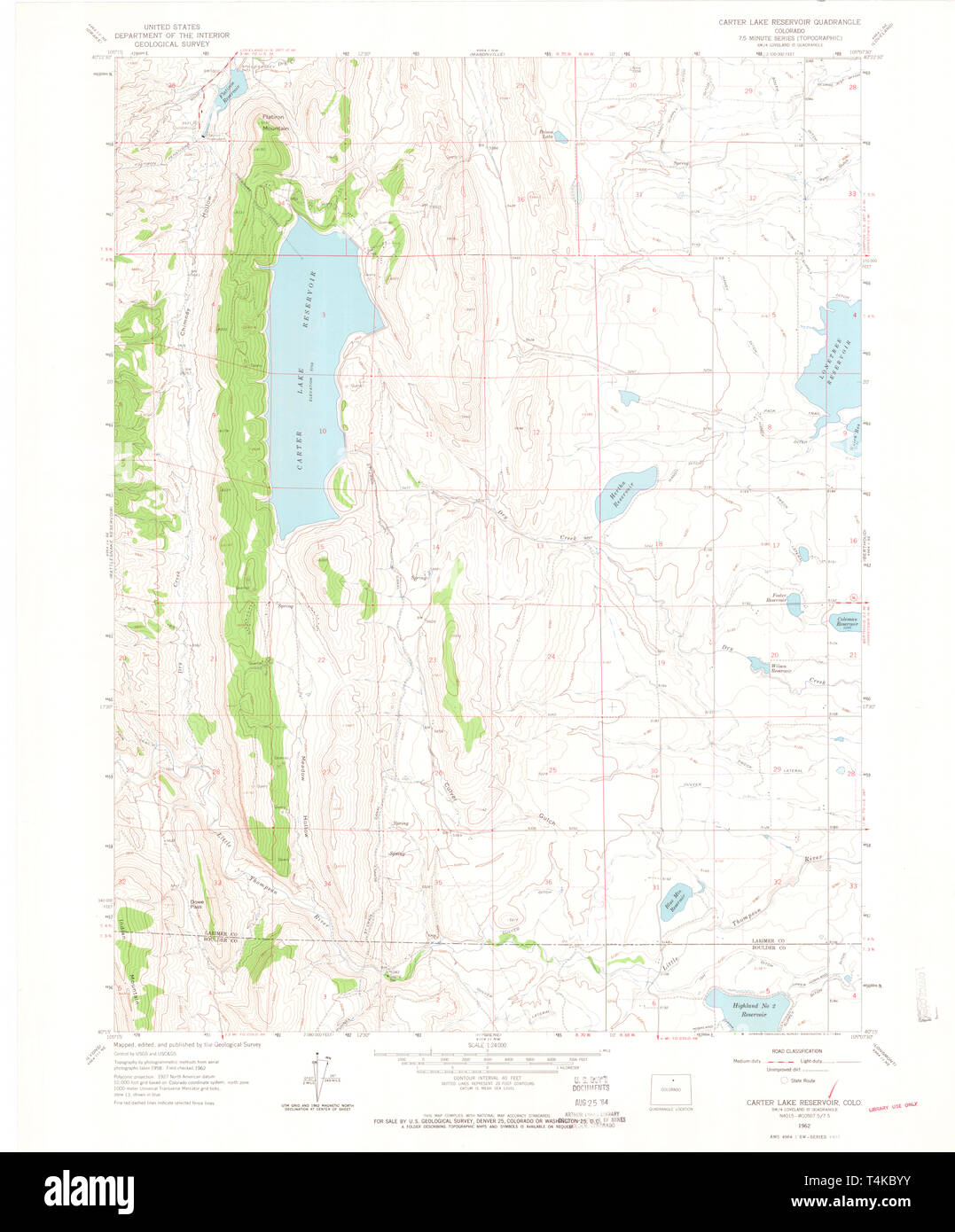 Carters Lake Map on