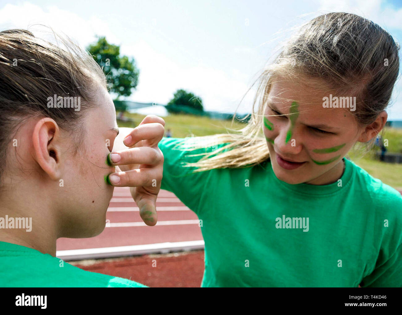 Sport Face Paint High Resolution Stock Photography And Images Alamy