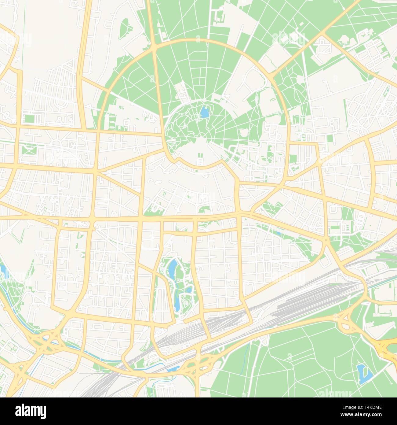 Karlsruhe Map Of Germany.Printable Map Of Karlsruhe Germany With Main And Secondary Roads