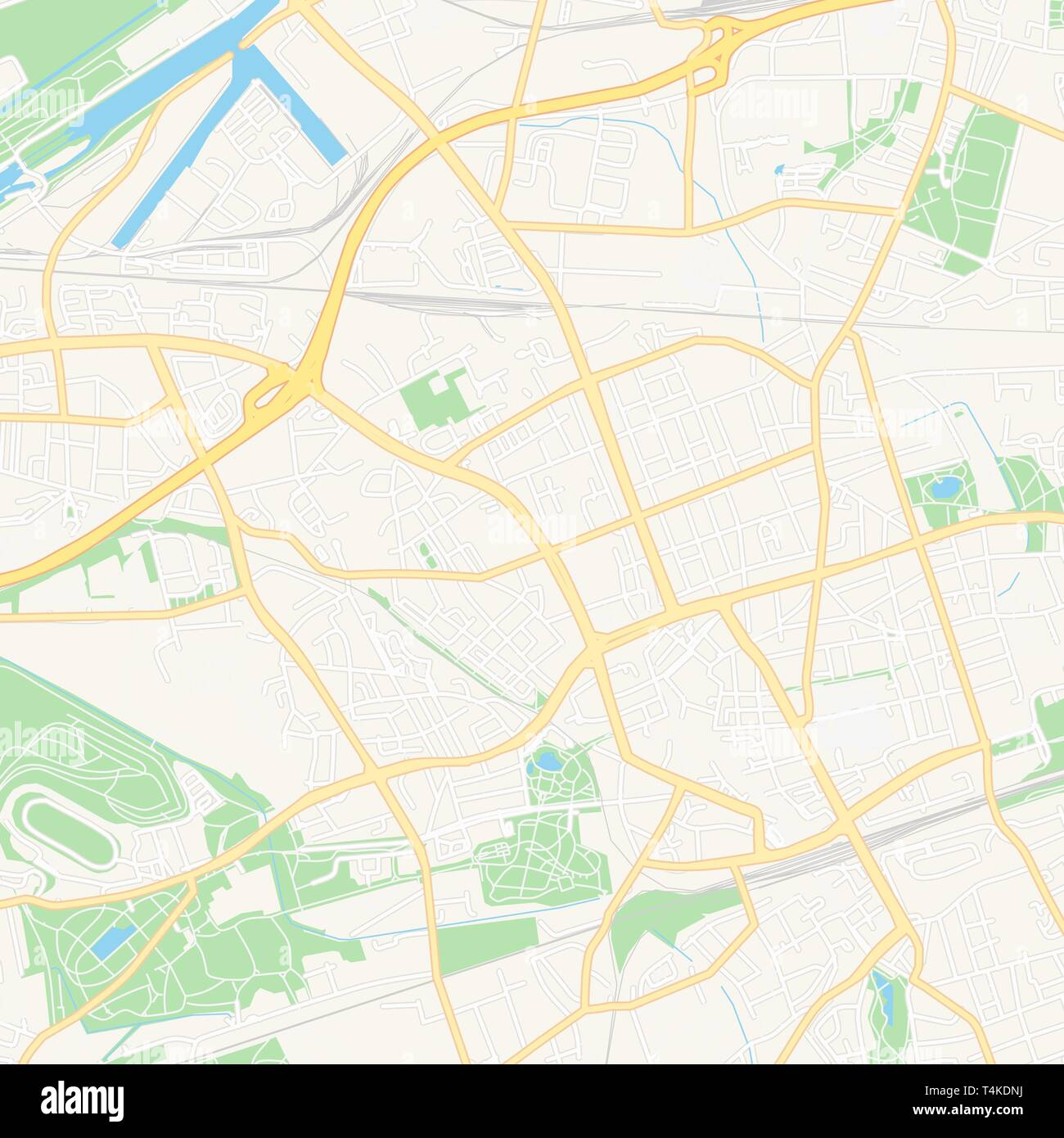 Map Of Germany Gelsenkirchen.Printable Map Of Gelsenkirchen Germany With Main And Secondary