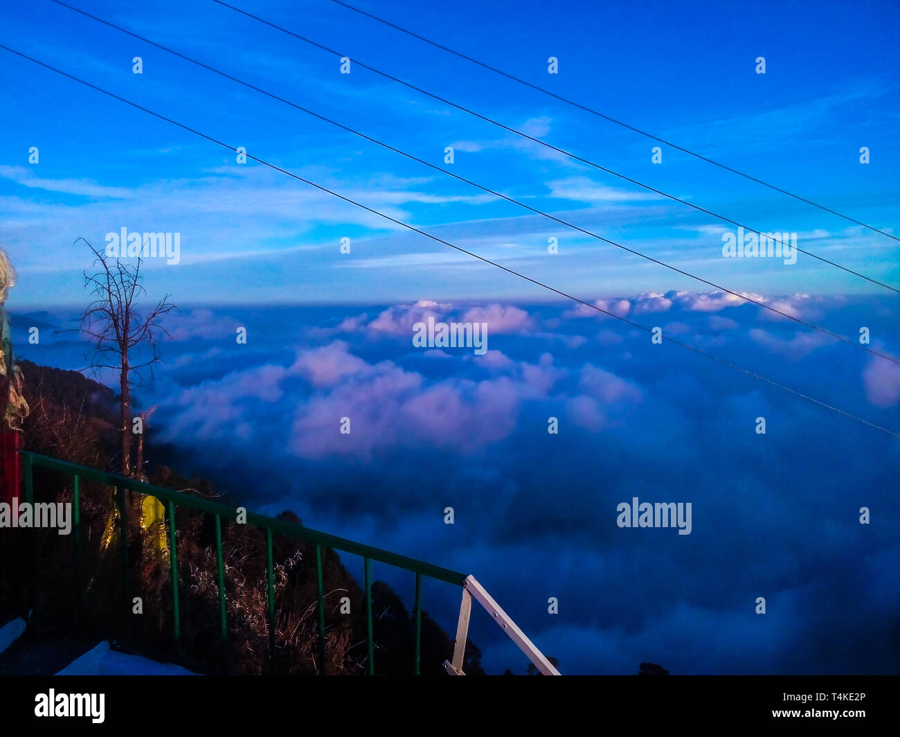 If you've noticed some strange blue clouds in the night sky recently, you're not alone. Uncharacteristically blue nighttime clouds, usually seen ... - Stock Image