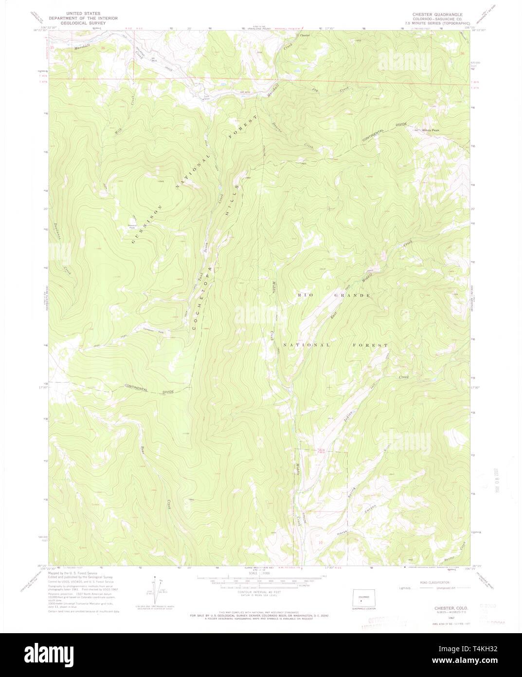 USGS TOPO Map Colorado CO Chester 450172 1967 24000 ...