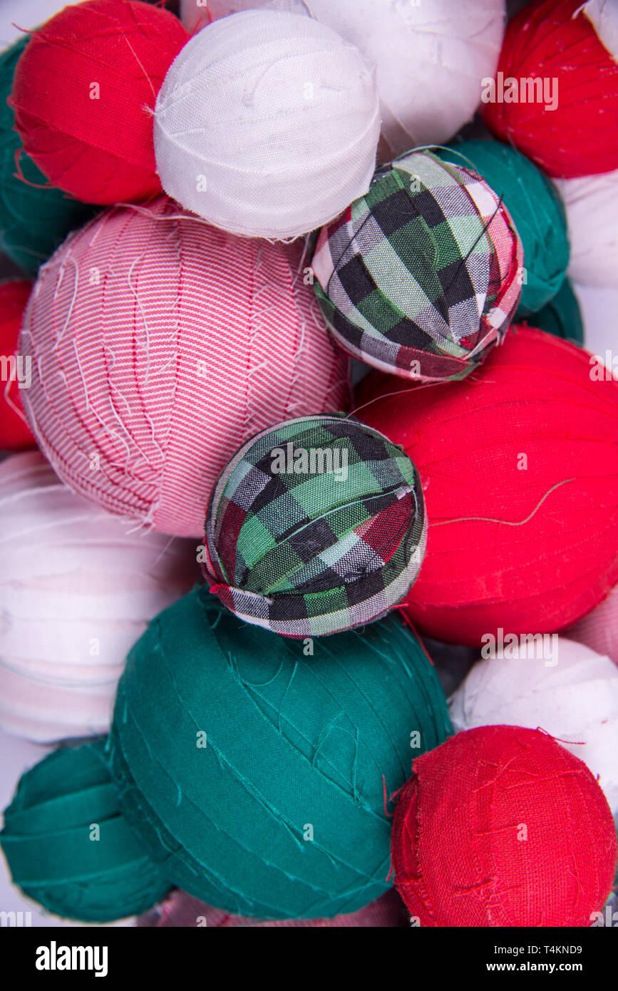 Fabric Balls Close Up Stock Photo Alamy