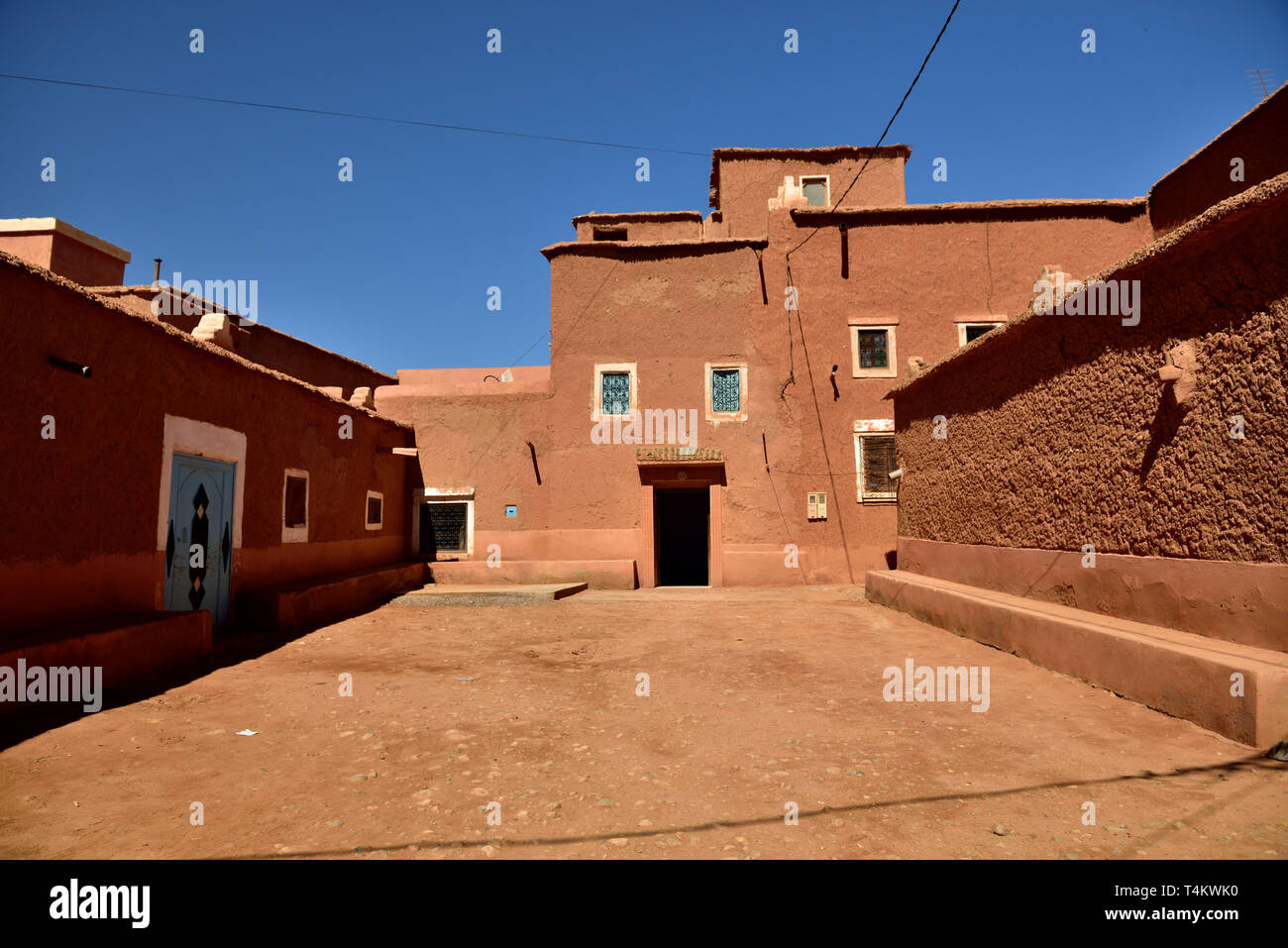Most citizens living in the region now live in more modern housing in a nearby village, but there are four families who still live in the ancient city - Stock Image