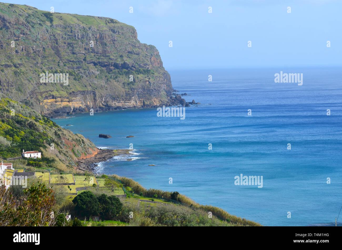 Praia Formosa Bay in Santa Maria island, Azores - Stock Image