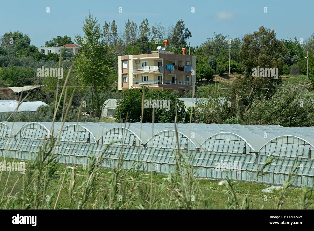 greenhouses, Province Antalya, Turkey - Stock Image