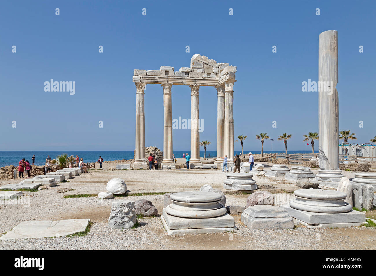 remains of the Temple of Apollo, Side, Province Antalya, Turkey - Stock Image