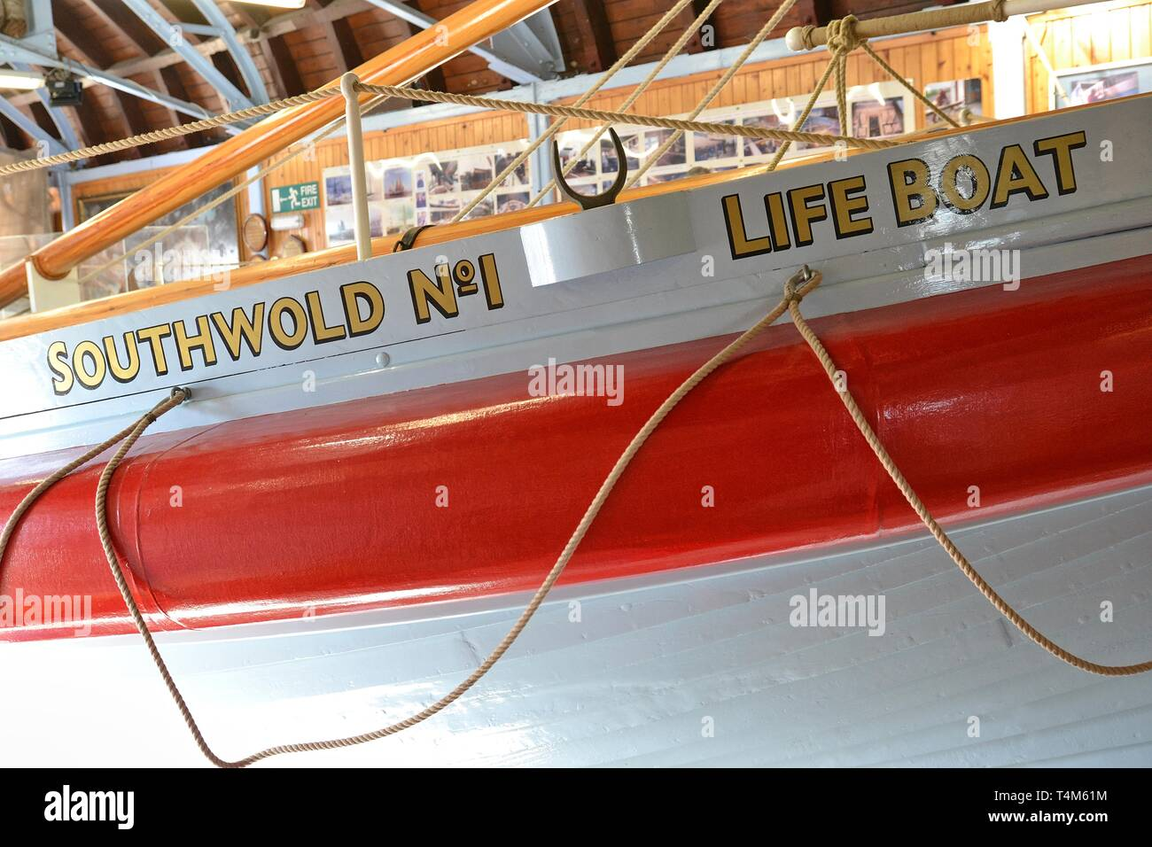 Alfred Corry Lifeboat Museum, Southwold, Suffolk, UK Stock Photo