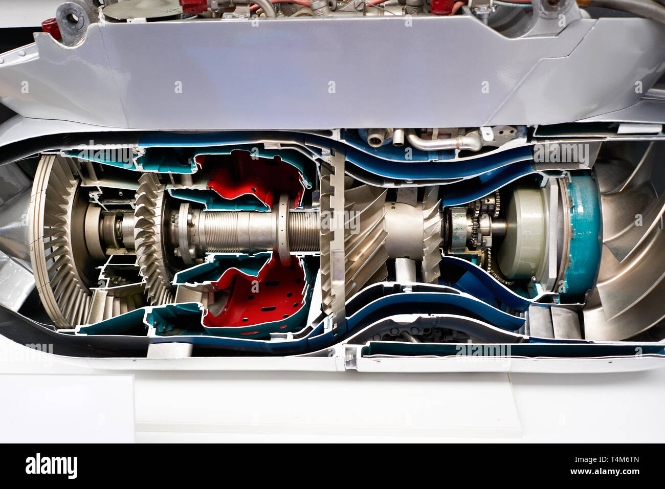 Two-circuit turbojet engine for aviation tactical missiles - Stock Image