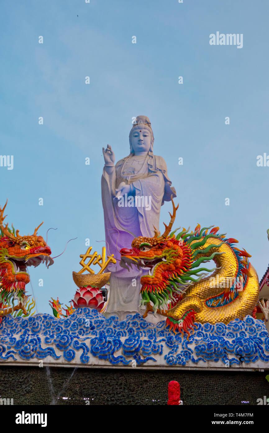 Buddhist Bodhisattvas Guam-im, Surat Thani, Thailand Stock Photo