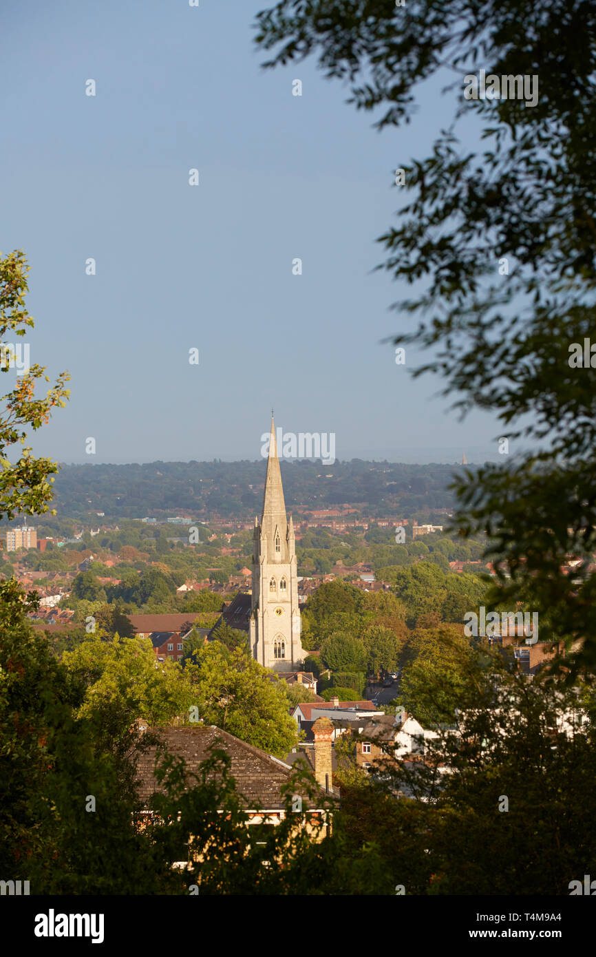 View from Horniman Gardens, London, England, Great Britain Stock Photo