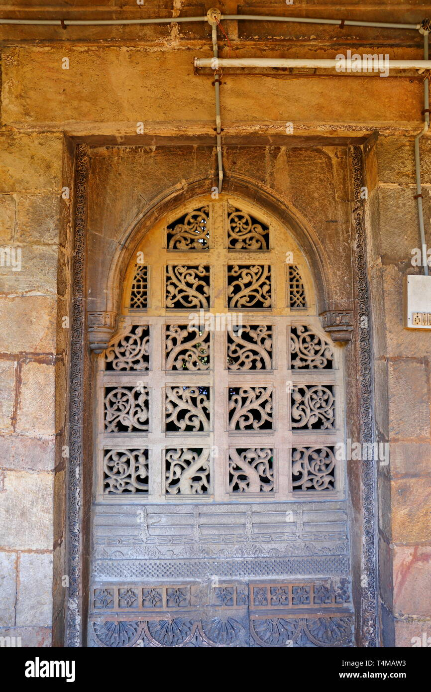 Hazrat Harir RA Masjid at Ahmedabad in the Indian state of Gujarat - Stock Image
