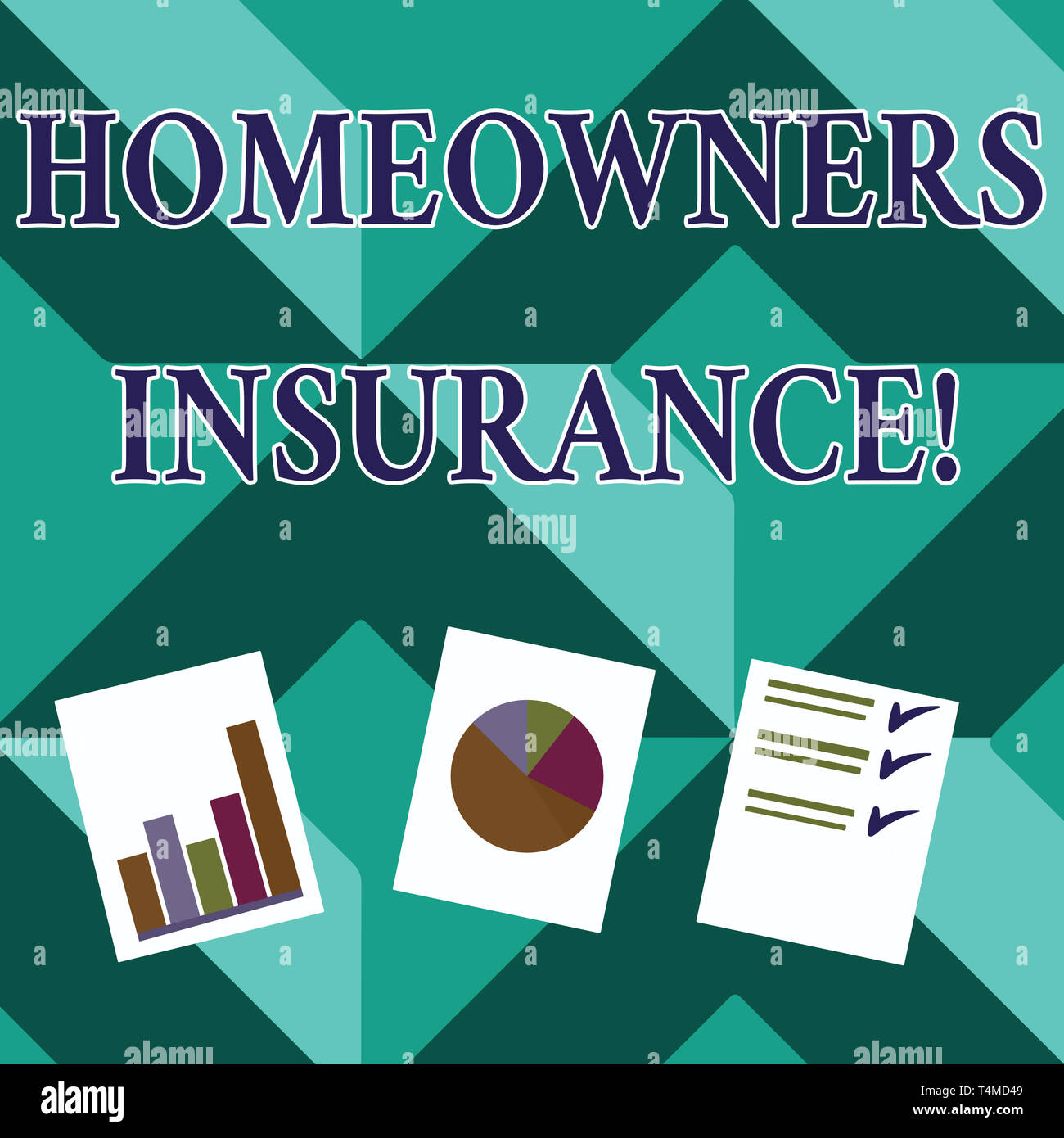 Word writing text Homeowners Insurance. Business photo showcasing Covers losses and damages to an individual s is house Presentation of Bar, Data and  - Stock Image