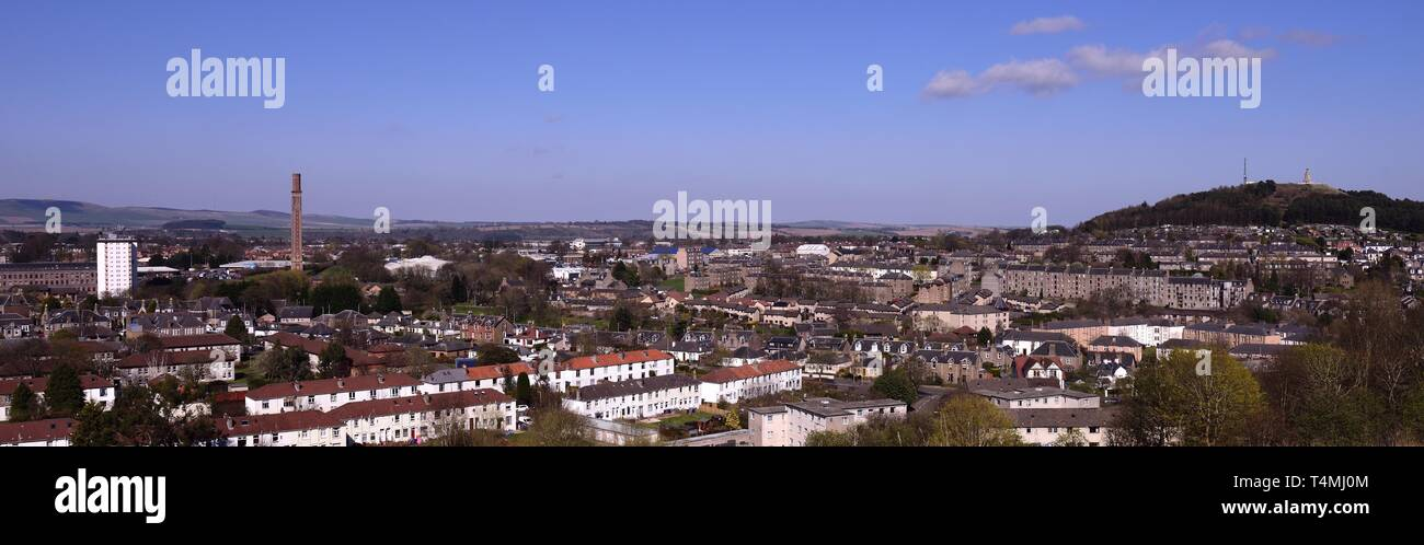 Dundee Seen from Balgay Hill - Stock Image
