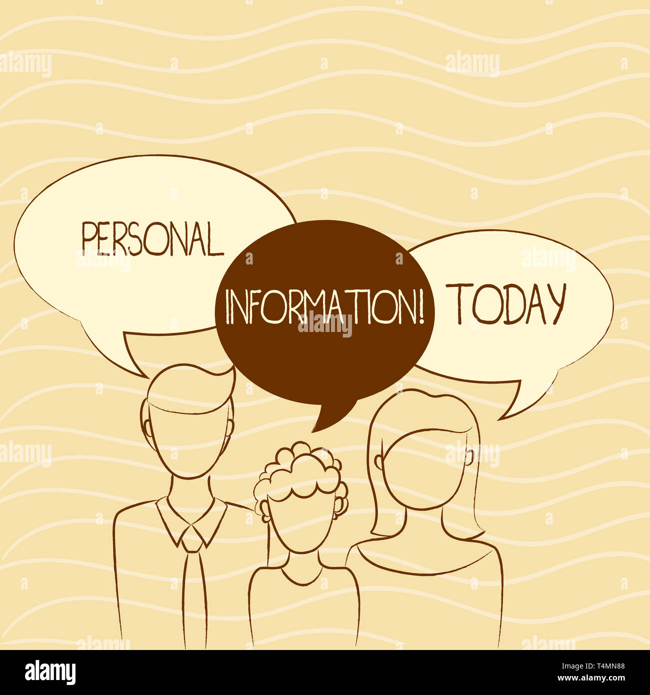 Writing note showing Personal Information. Business concept for recorded information about an identifiable individual Family of One Child Between Fath Stock Photo