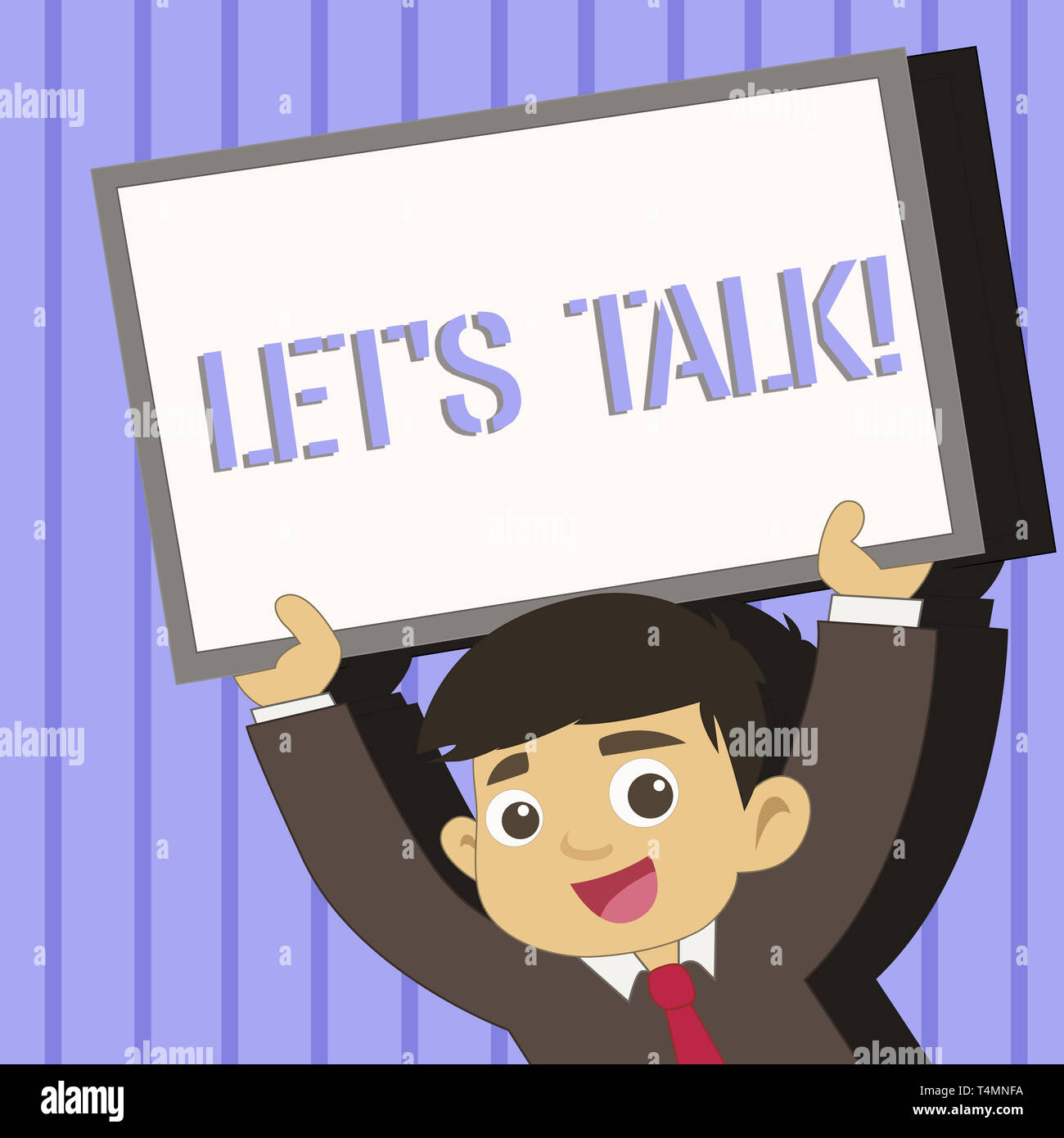 Word writing text Let S Talk. Business photo showcasing they are ...