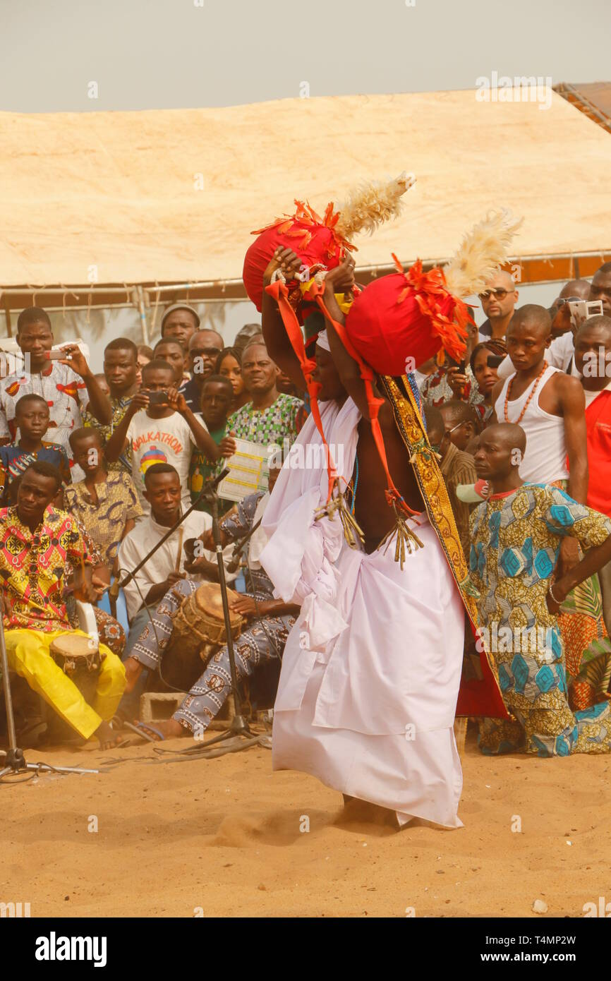 Voodoo festival in Ouidah, Benin  An annual event with