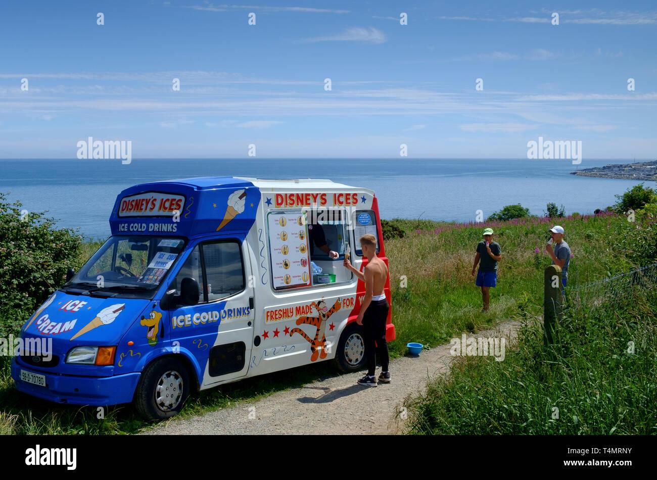 ice cream van - Stock Image