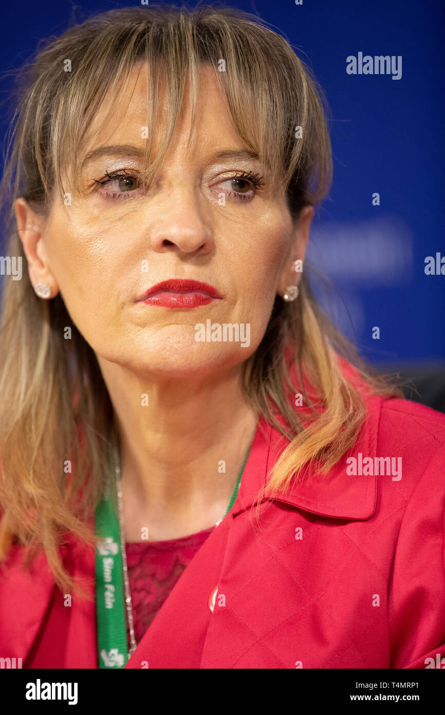 28th February 2018 -  Martina Anderson is an Irish politician from Northern Ireland who is a Member of the European Parliament representing Northern I - Stock Image