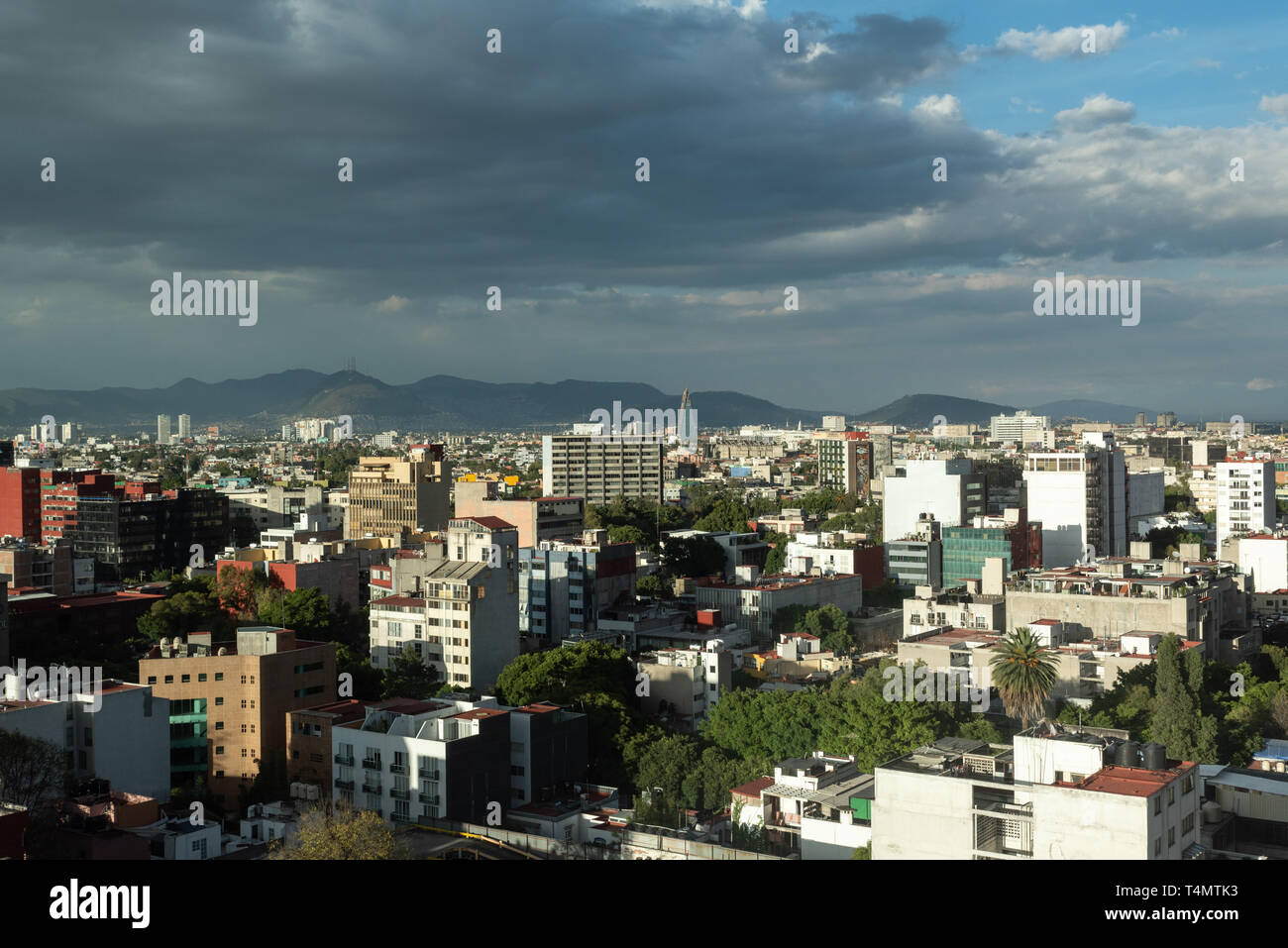 Mexico City is one of the largest city in the world. It is estimated that 32M people live in the city. - Stock Image