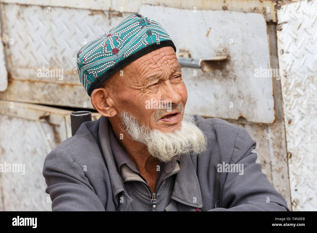 0f5581b3a8d A Bearded Old Man Wearing A Hat Stock Photos   A Bearded Old Man ...