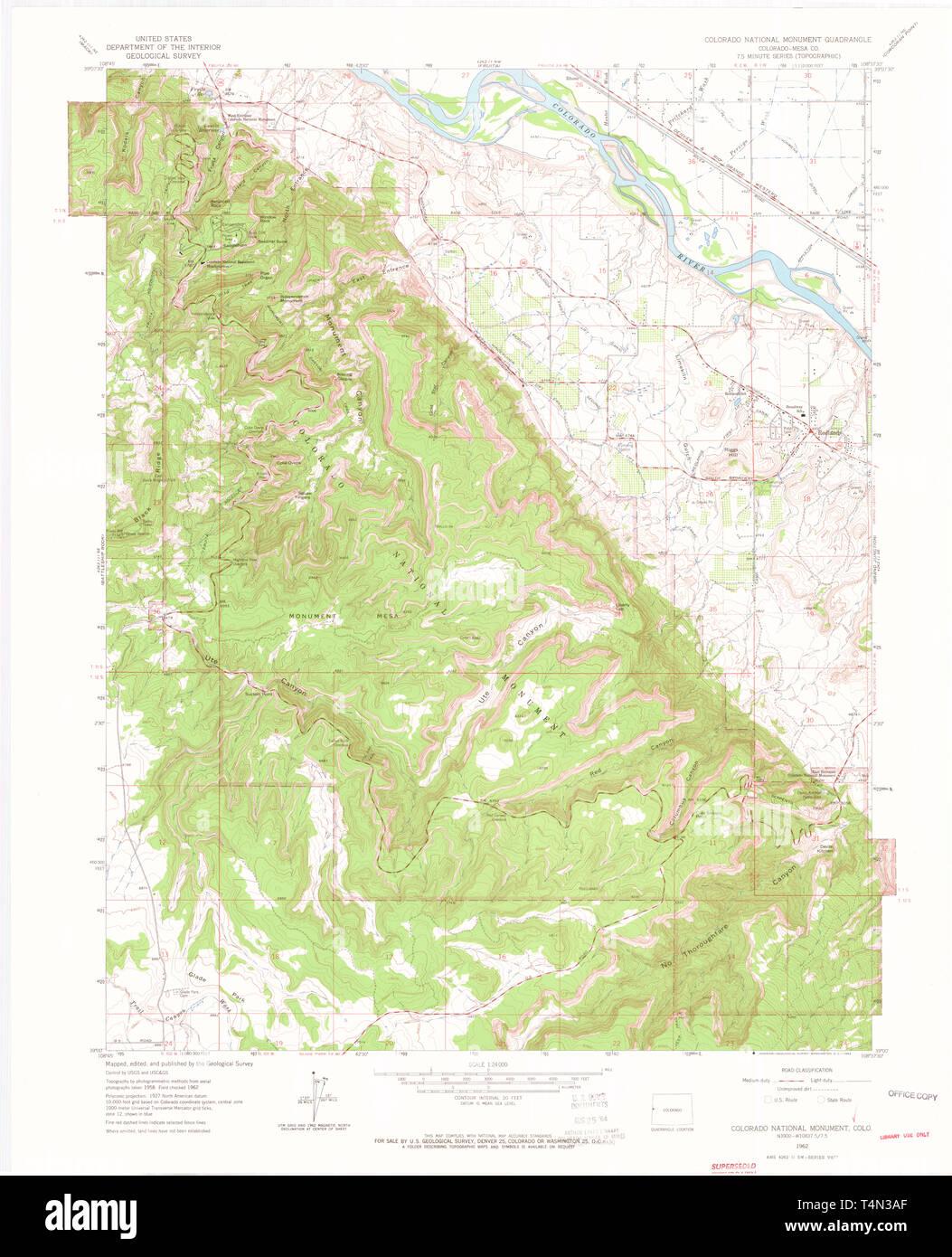 USGS TOPO Map Colorado CO Colorado National Monument 400864 ...