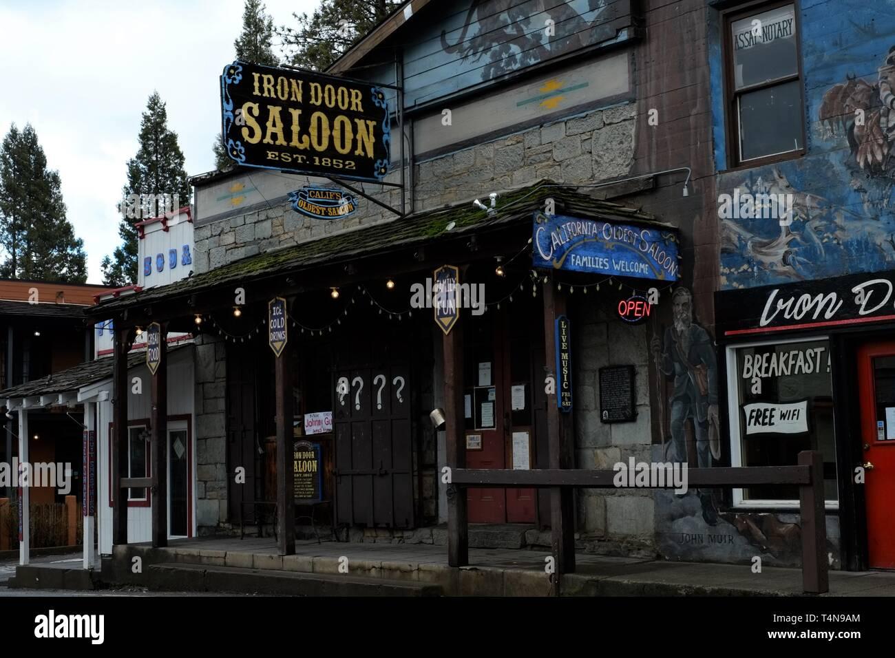 Iron Door Saloon - Stock Image
