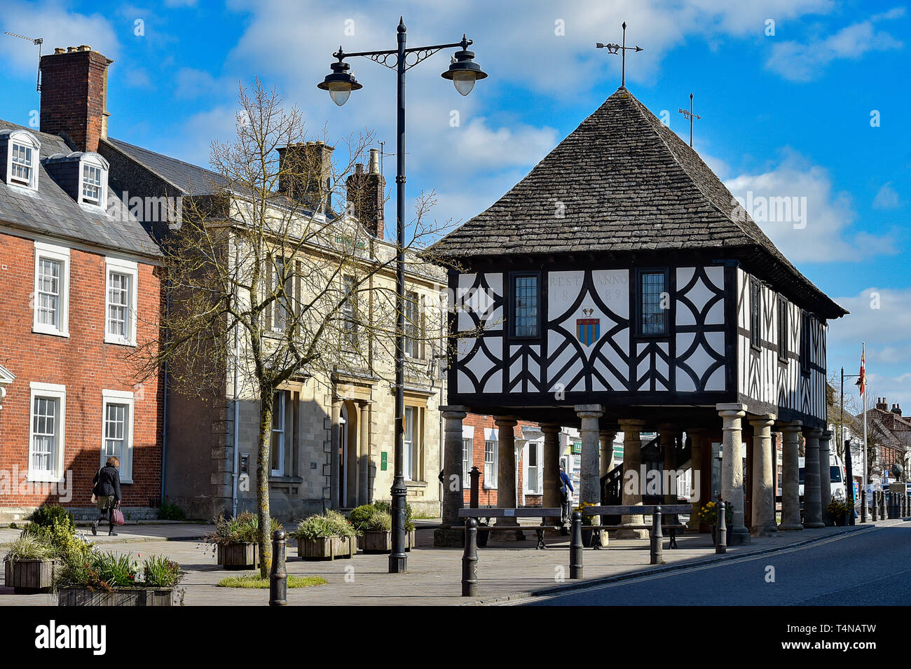 Looking towards the Town Hall Museum in Royal Wootton Bassett Wiltshire 2019 Stock Photo