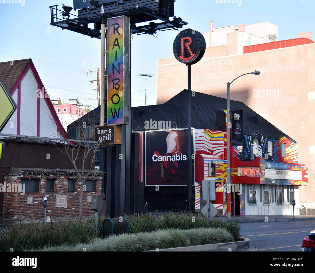 The Rainbow Room is one of the legendary music clubs on Sunset Strip in Los Angeles.  Editorial.  Exclusive - Stock Image