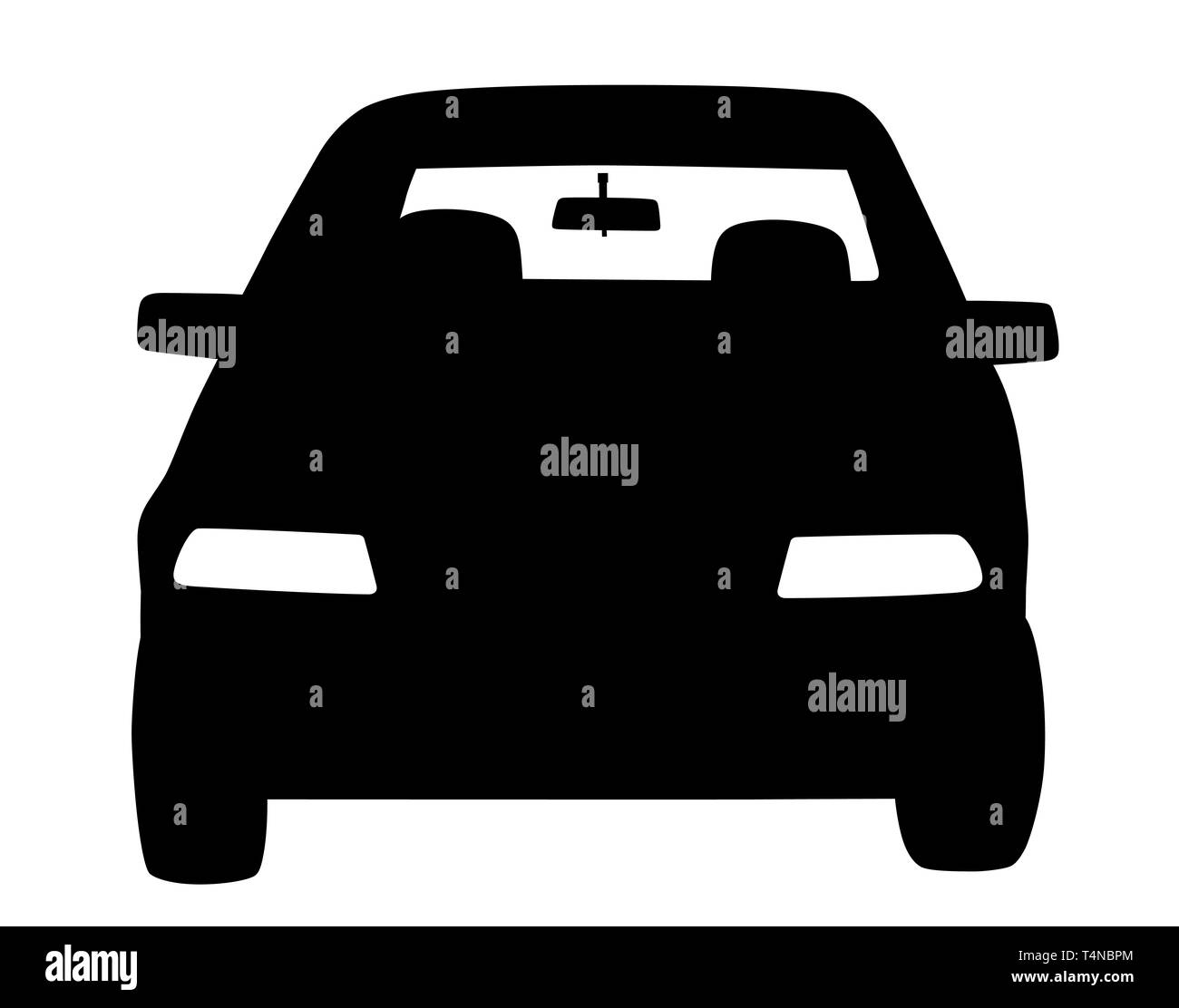 Parked car front view - Stock Image
