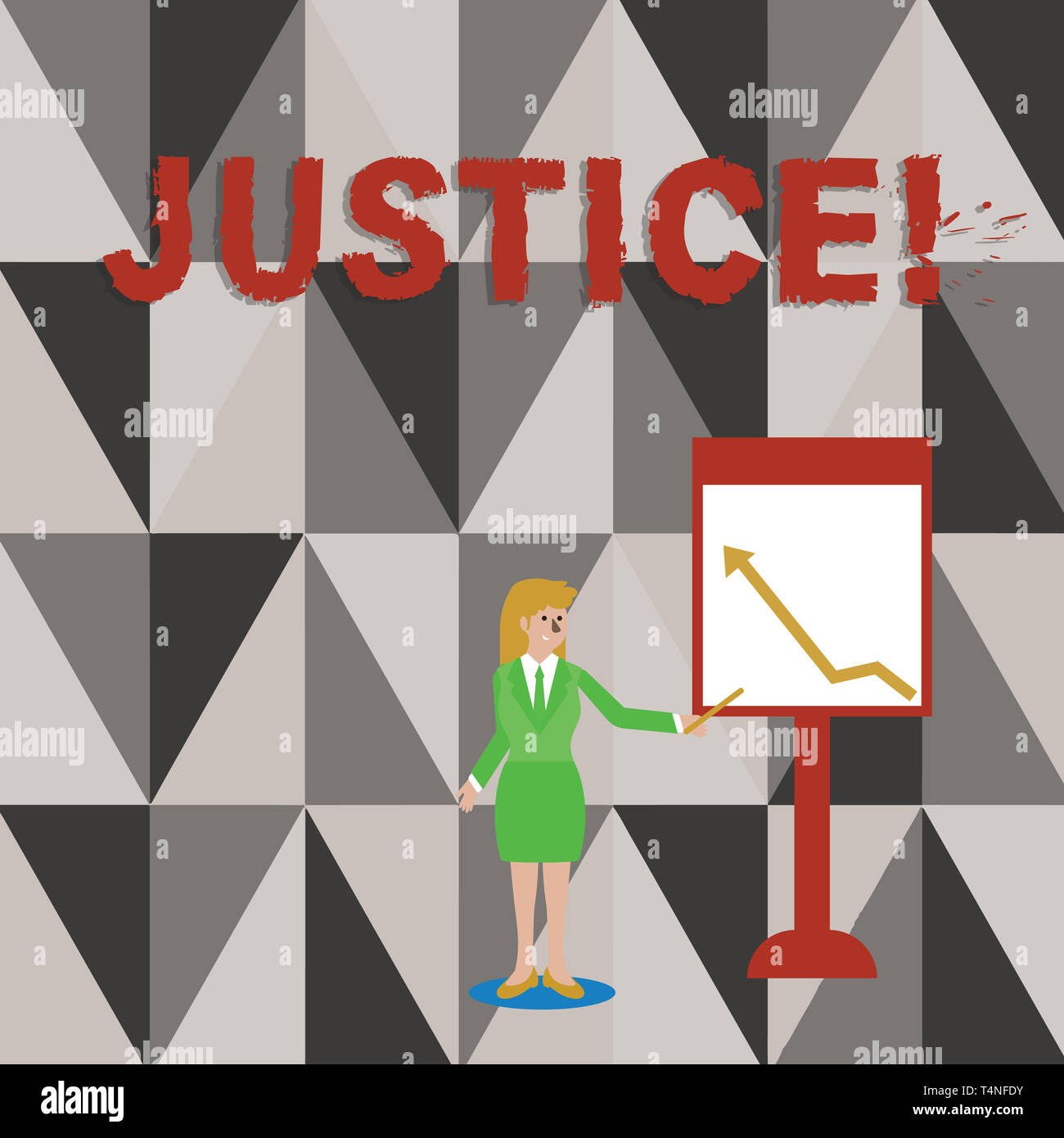 Conceptual hand writing showing Justice  Concept meaning