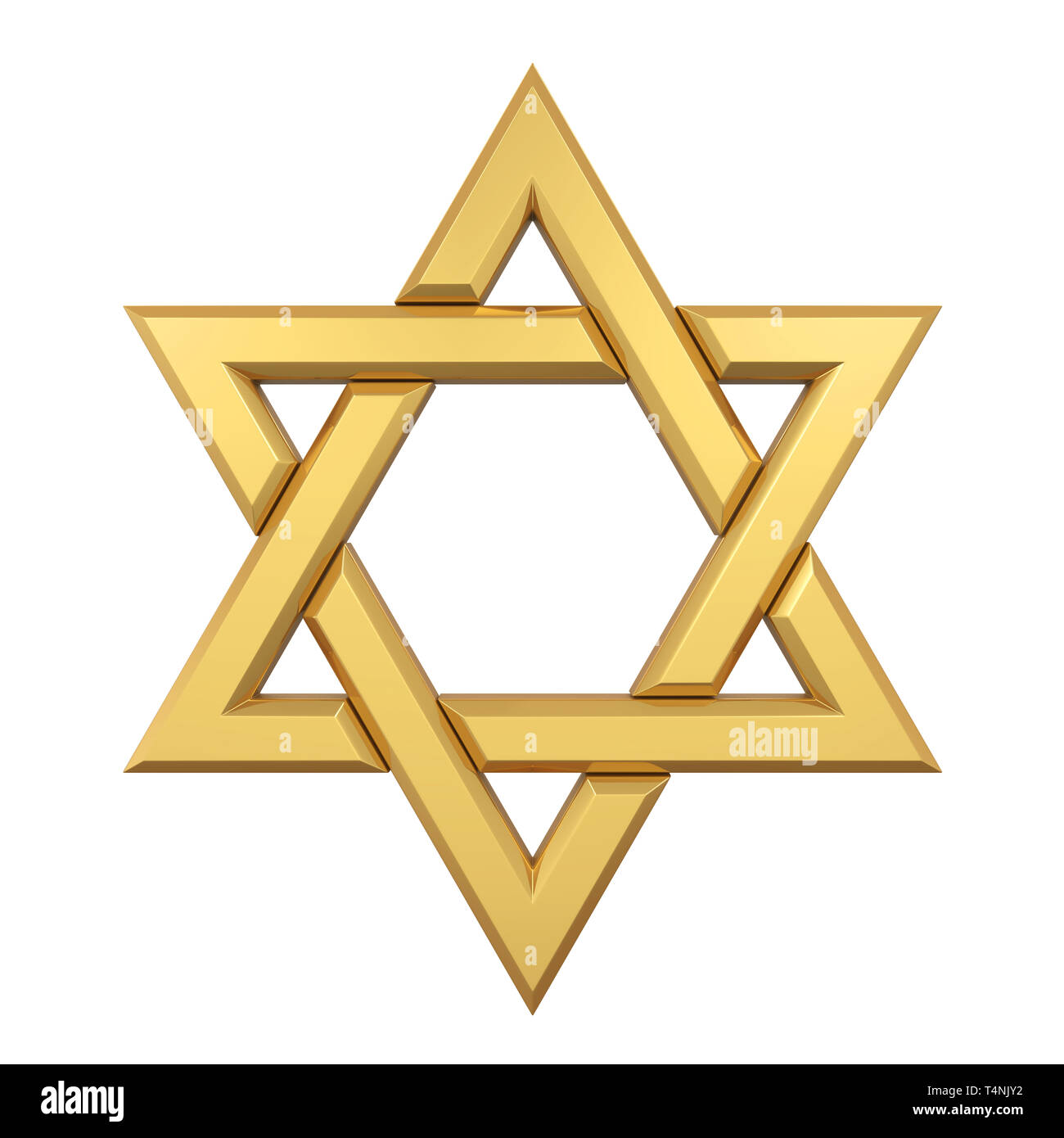 Star of David Isolated - Stock Image