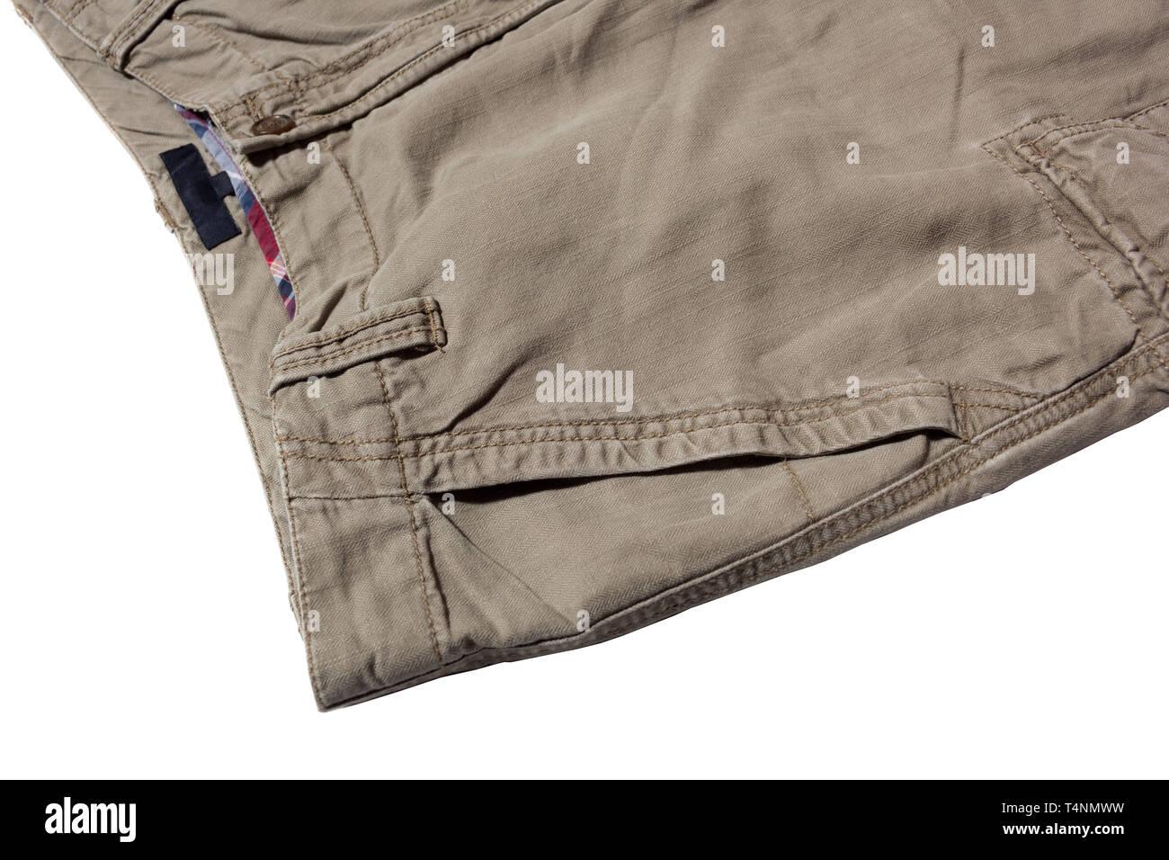 men's linen trousers - Stock Image
