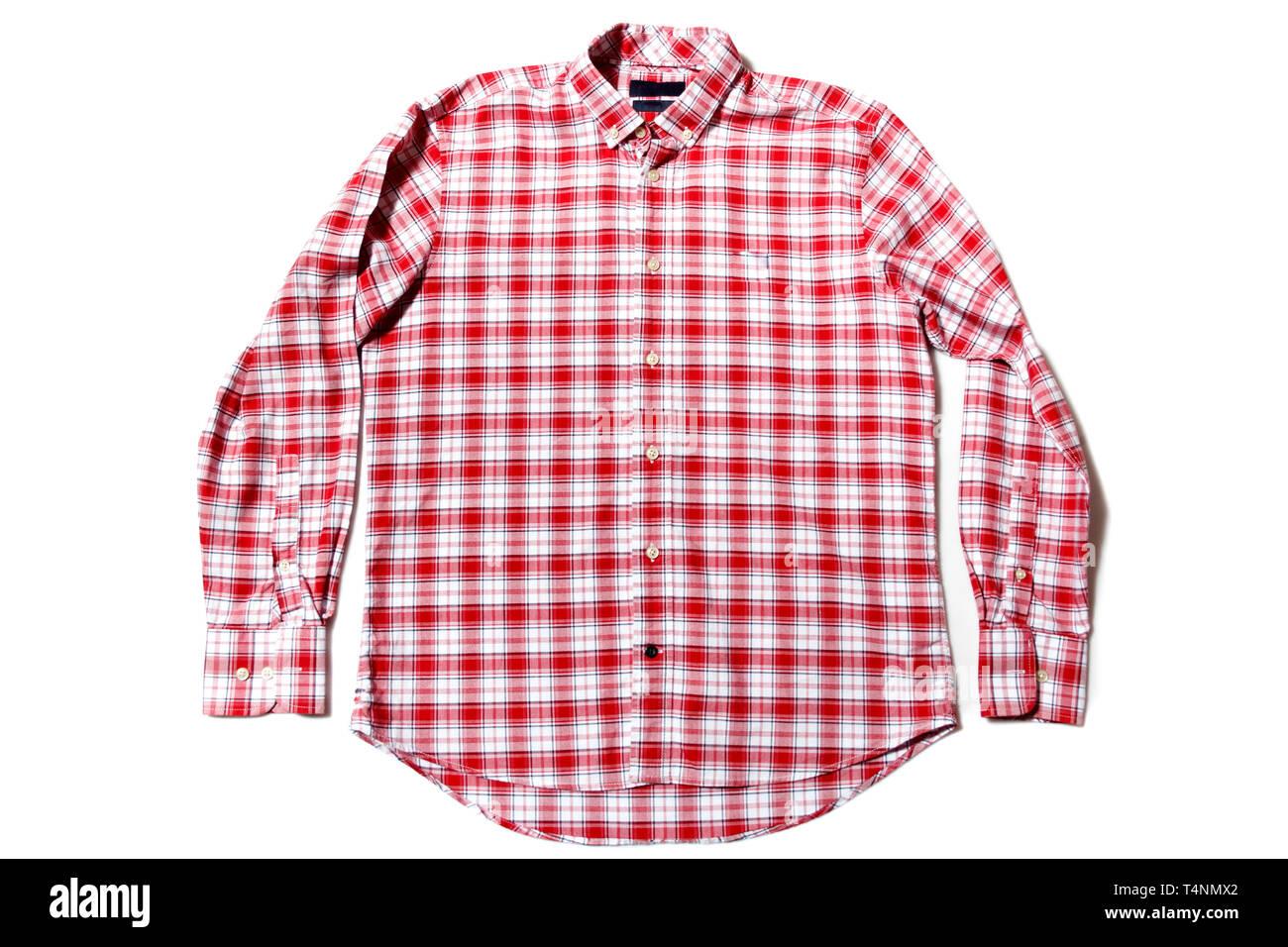 Long sleeve men's shirt - Stock Image