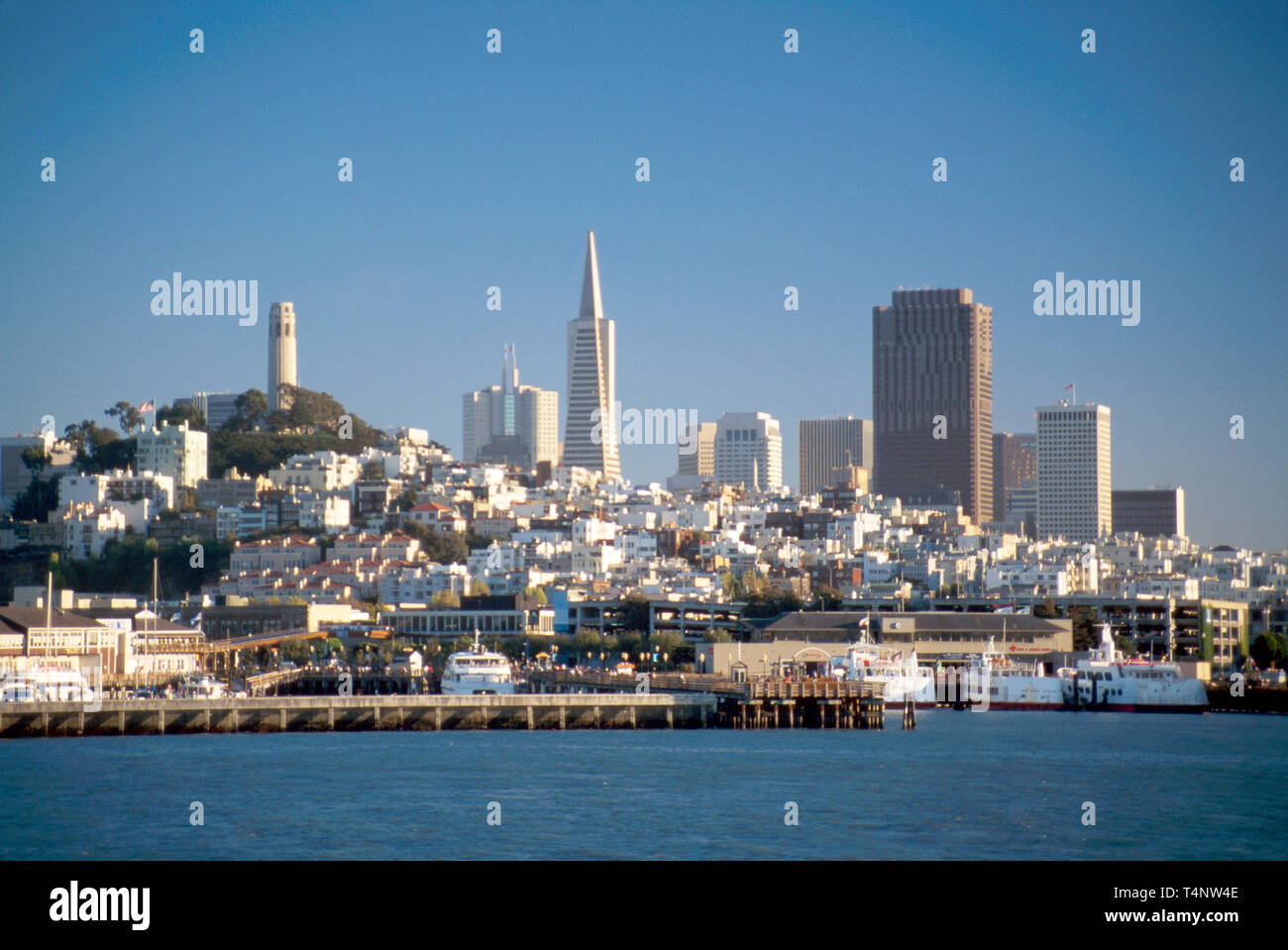 San Francisco California skyline from San Francisco Bay - Stock Image