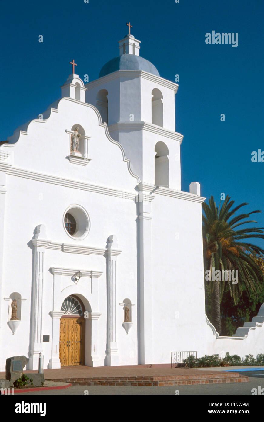 California Oceanside Mission San Luis Rey largest in California - Stock Image