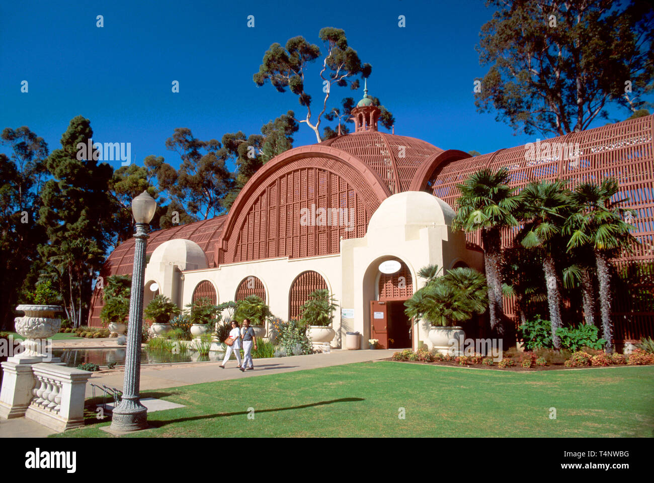 California San Diego Balboa Park built for Exposition Botanical Building visitors - Stock Image