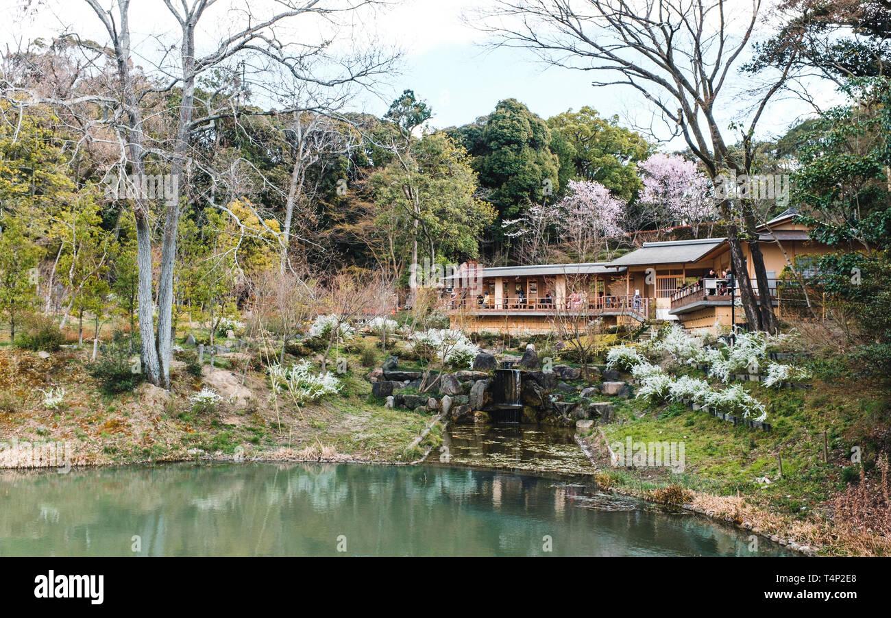 Tea House at Fushimi Inari-Taisha Shrine in Kyoto, Japan - Stock Image